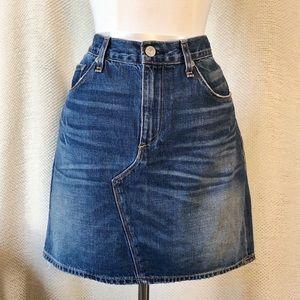 Rag and Bone Denim Distressed Mini Skirt